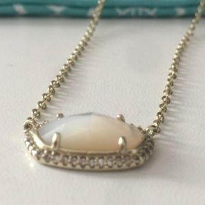 New Elisa Lux Necklace Ivory Mother of Pearl Gold